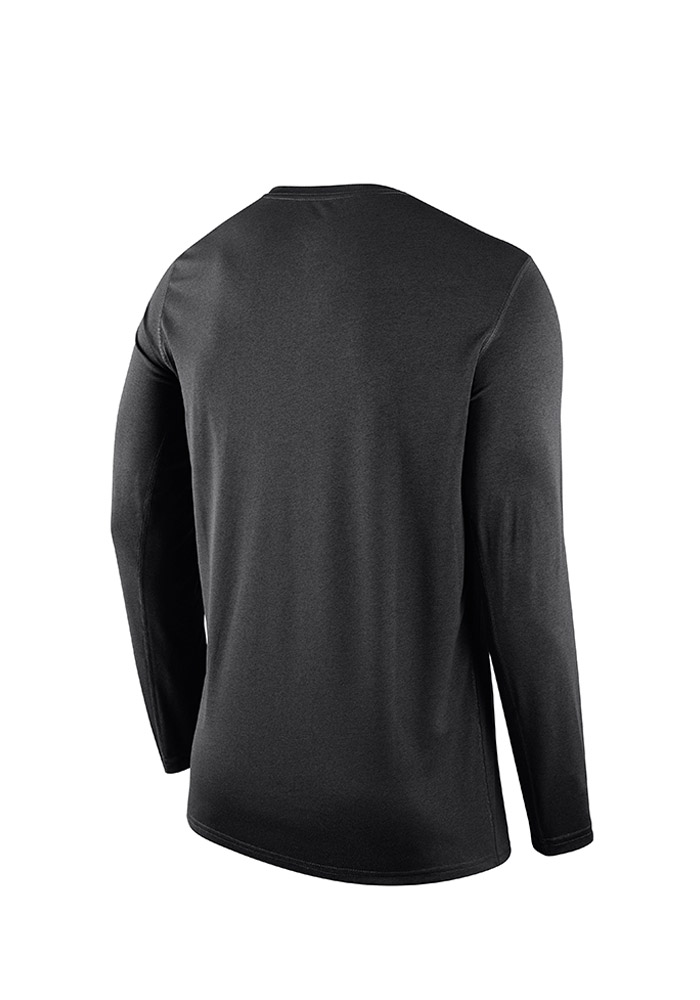 Nike Pittsburgh Pirates Black Legend Wordmark Long Sleeve T-Shirt - Image 2