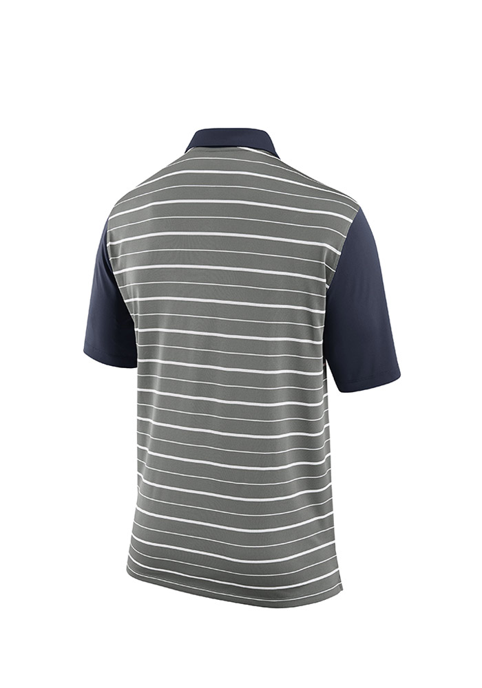 Detroit Tigers Mens Navy Blue Cooperstown Dri-FIT Short Sleeve Polo - Image 2