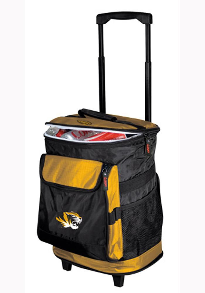 Missouri Tigers large team logo on black and yellow background Cooler - Image 1