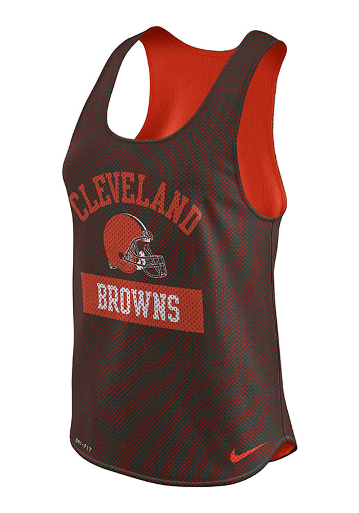 Nike Cleveland Browns Womens Brown Gear Up Tank Top - Image 1