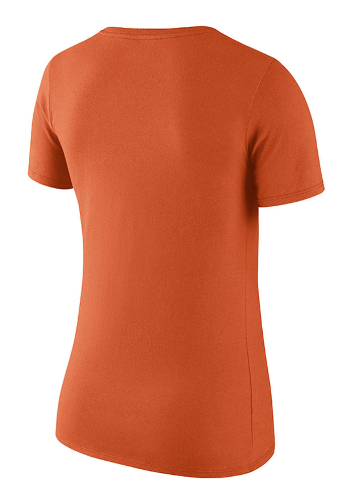 Nike Cincinnati Bengals Womens Orange Lockup Scoop T-Shirt - Image 2