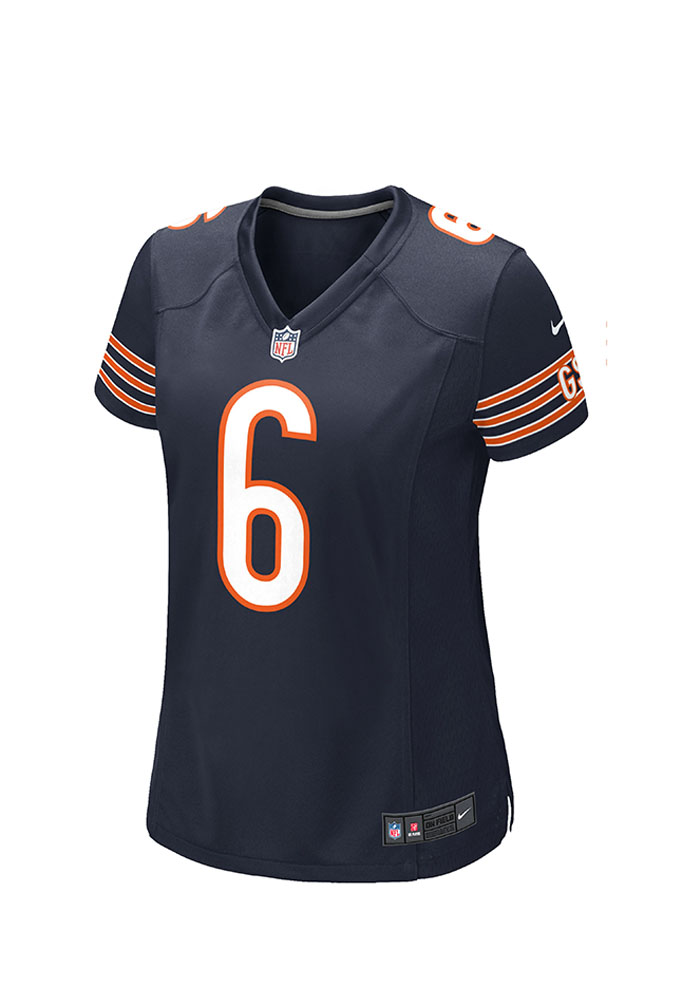 Jay Cutler Nike Chicago Bears Womens Navy Blue Home Game Football Jersey - Image 2