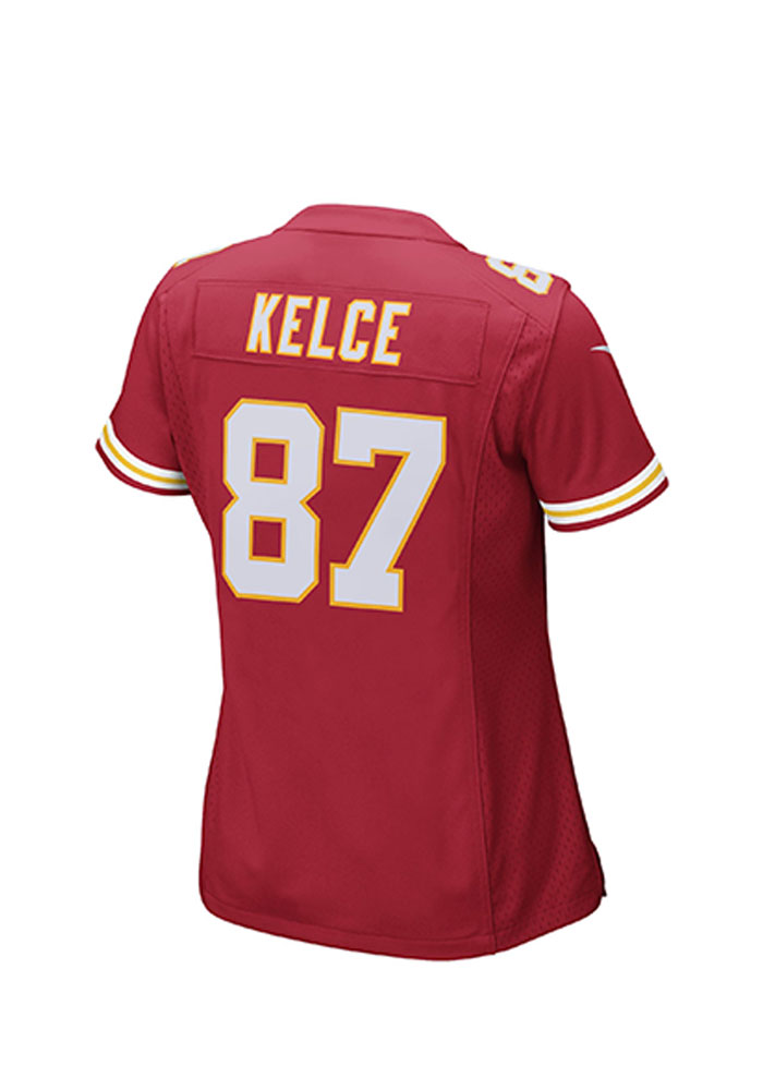 quality design 93d5e 6b526 Travis Kelce Nike Kansas City Chiefs Womens Red Game Football Jersey