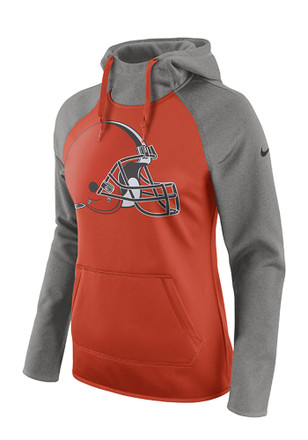 Nike Cleveland Browns Womens Orange Tailgate All Time Hoodie
