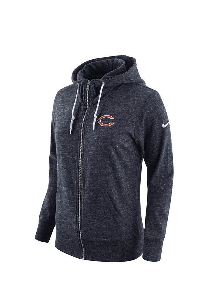Nike Chicago Bears Womens Navy Blue Tailgate Vintage Full Zip Jacket