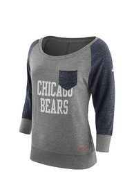 Chicago Bears Womens Nike Tailgate Vintage Crew Sweatshirt - Grey