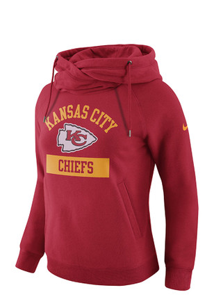Nike Kansas City Chiefs Womens Red TAILGATE FUNNEL Hoodie