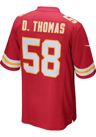Derrick Thomas Nike Kansas City Chiefs Mens Red Replica Jersey