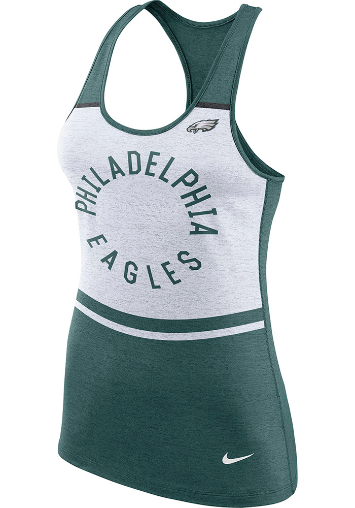 new concept 8cb15 402e3 Nike Philadelphia Eagles Womens White Circle Tank Top