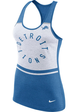 Nike Detroit Lions Womens White Circle Tank Top