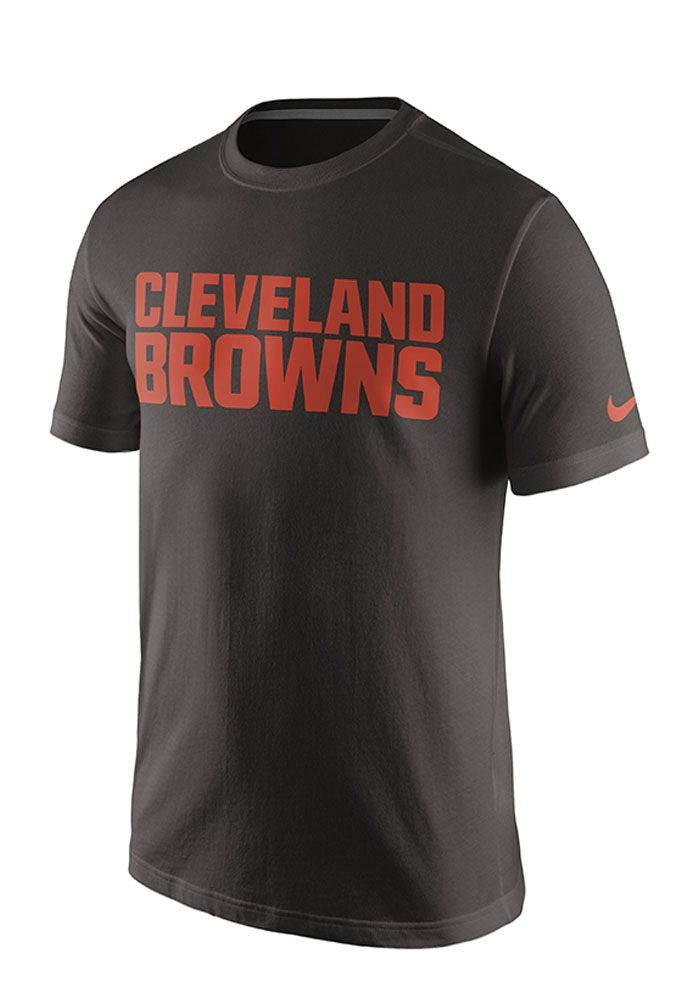 nike cleveland browns mens brown screen print short sleeve ForCleveland T Shirt Printing