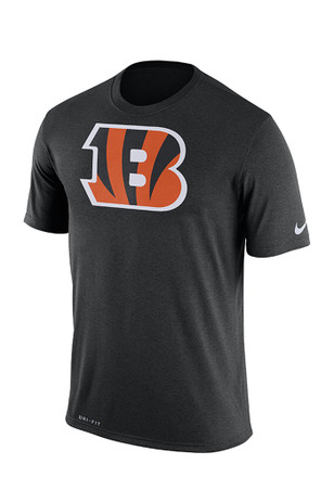 Nike Cincinnati Bengals Mens Black screen print Tee