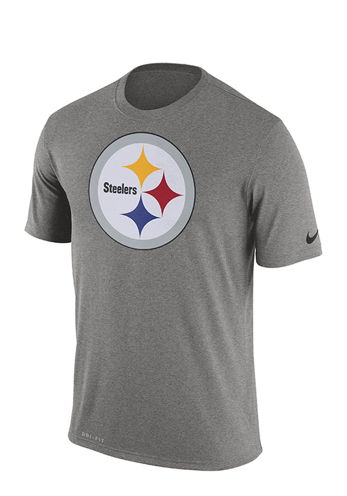 Nike Pittsburgh Steelers Mens Grey Screen Print Short