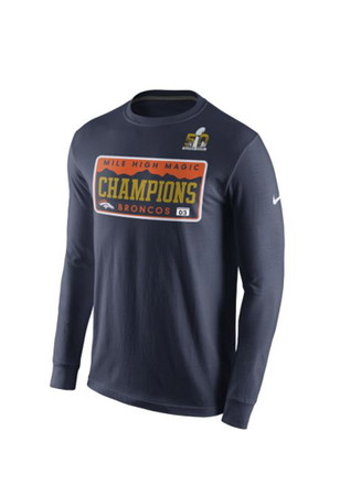 Nike Denver Broncos Navy Super Bowl Champs Local LS Tee