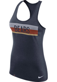 Chicago Bears Womens Nike Dri-Fit Touch Tank Top - Navy Blue