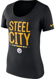 2892e493 Nike Pittsburgh Steelers Womens Local Spirit Black Scoop T-Shirt