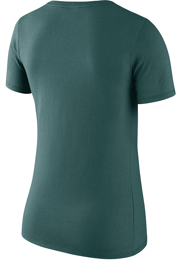 Nike Philadelphia Eagles Womens Midnight Green Primary Logo Scoop T-Shirt - Image 2