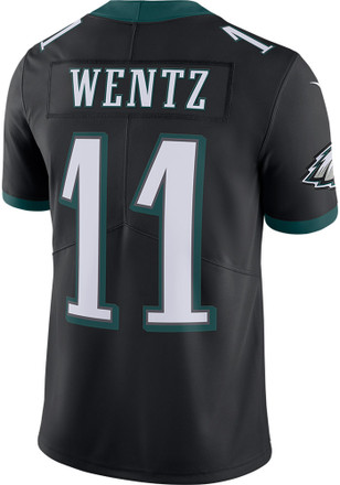 Carson Wentz Nike Philadelphia Eagles Mens Black 2017 Alternate Jersey