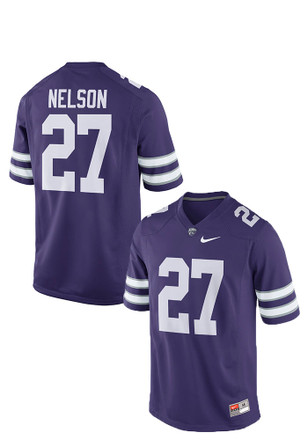 Jordy Nelson Nike K-State Wildcats Mens Purple NN Game Jersey