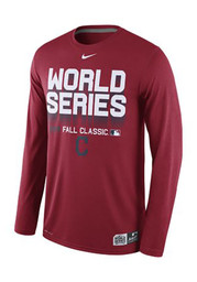 Nike Cleveland Indians Mens Red Participant Legend Performance Tee