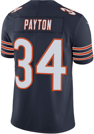 Walter Payton Nike Chicago Bears Mens Navy Blue Home Jersey