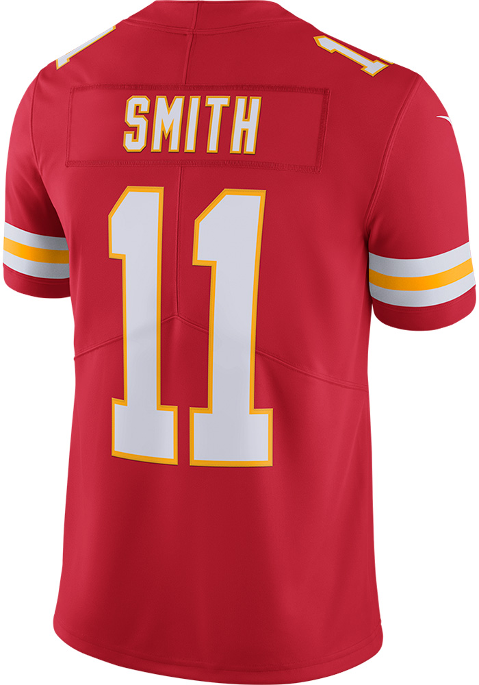 Alex Smith Nike Kansas City Chiefs Mens Red 2017 Home Limited Football Jersey - Image 2