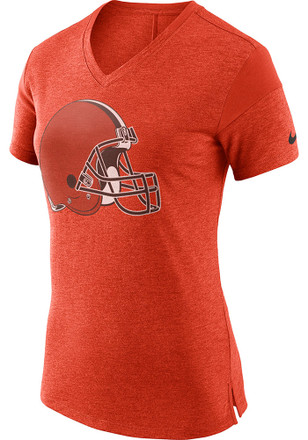 Nike Cleveland Browns Womens Orange Fan V-Neck