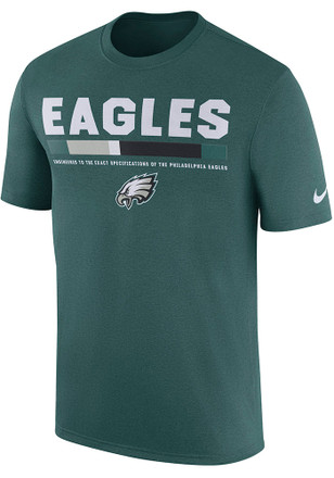Nike Philadelphia Eagles Mens Midnight Green Legend Staff Tee