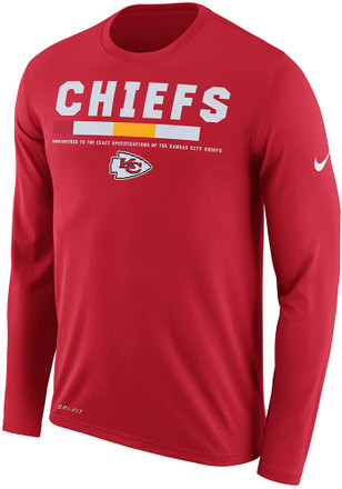 Nike KC Chiefs Mens Red Legend Staff Performance Tee