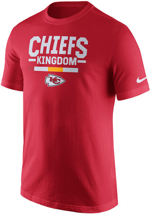 Nike KC Chiefs Mens Red Local Verbiage Tee
