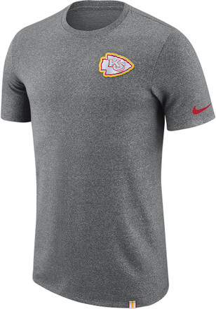 Nike Kansas City Chiefs Mens Grey Marled Patch Tee