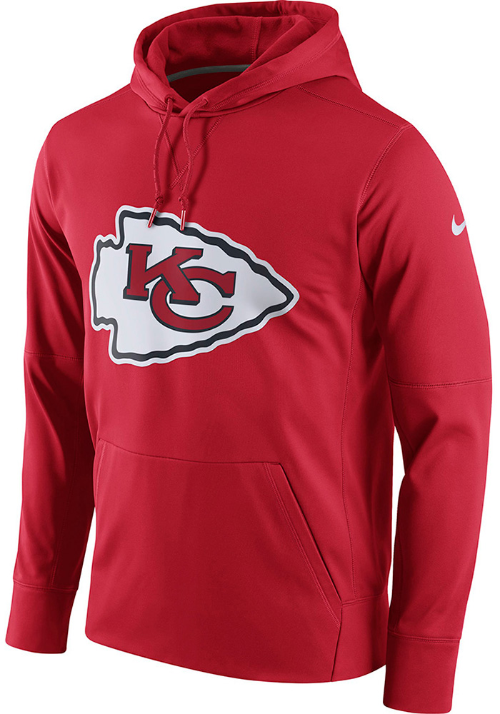 Nike Kansas City Chiefs Mens Red Circuit Logo Hood - Image 2