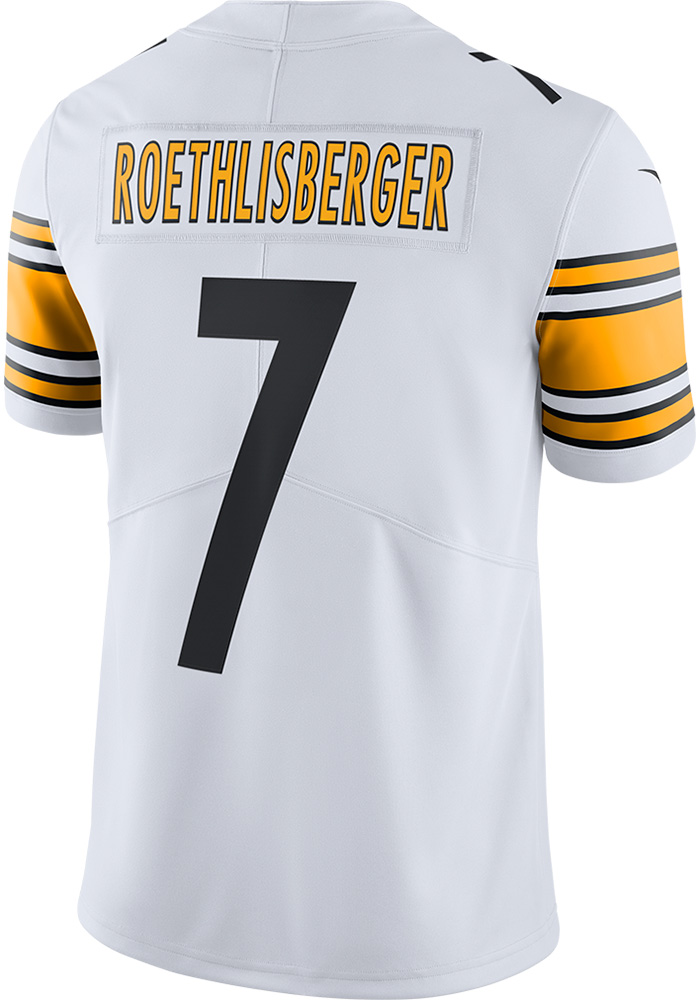 the best attitude bf175 f34b7 Ben Roethlisberger Nike Pittsburgh Steelers Mens White 2017 Away Limited  Football Jersey