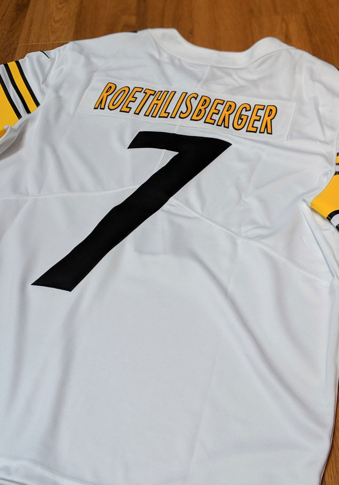 Ben Roethlisberger Nike Pittsburgh Steelers Mens White 2019 Home Limited Football Jersey - Image 3