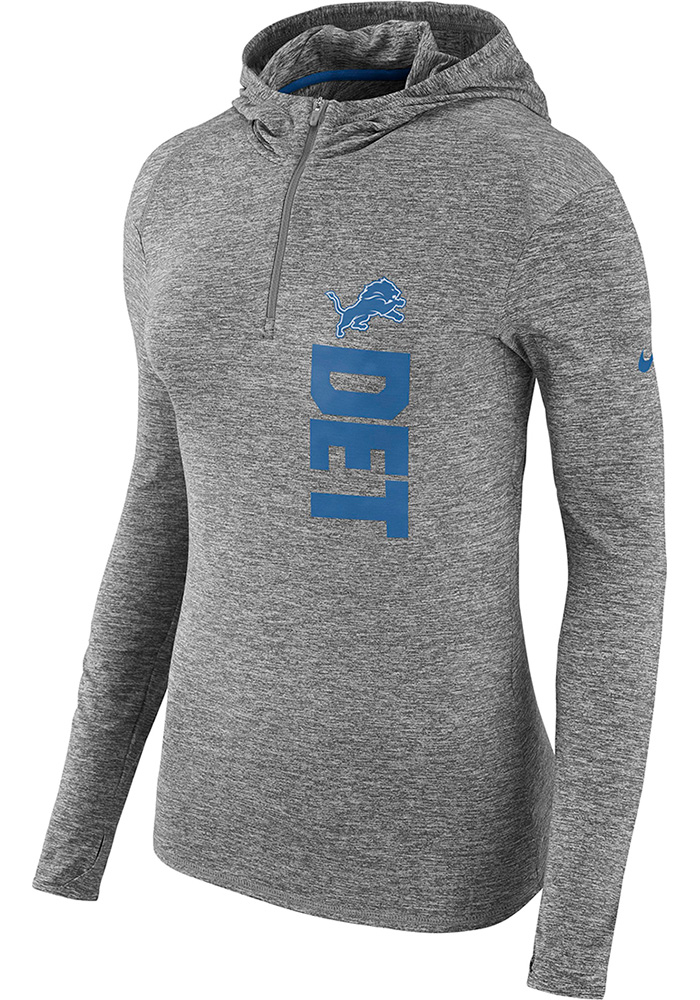 official photos 777f1 62070 Nike Detroit Lions Womens Grey Element Hooded Sweatshirt