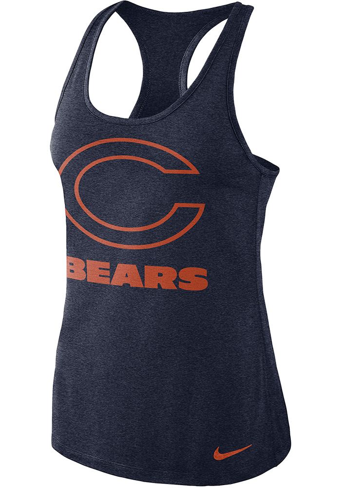 Nike Chicago Bears Womens Navy Blue Dry Tank Top - Image 1