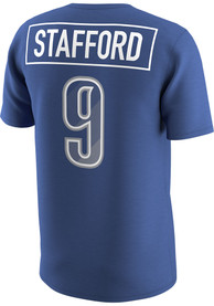 Matthew Stafford Detroit Lions Blue Prism Name Number Player Tee