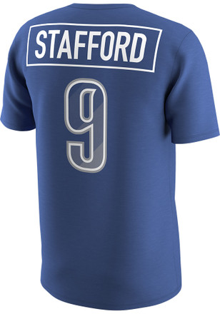 Matthew Stafford Detroit Lions Mens Blue Prism Name & Number Player Tee