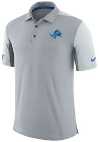 Detroit Lions Nike Team Issued Polo Shirt - Grey