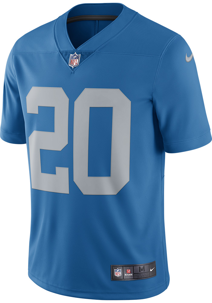 Barry Sanders Nike Detroit Lions Mens Blue Home Limited Football Jersey - 12552095