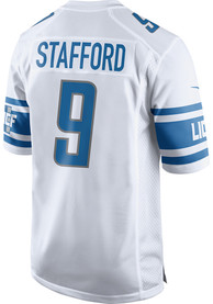 Matthew Stafford Detroit Lions Nike Away Game Football Jersey - White