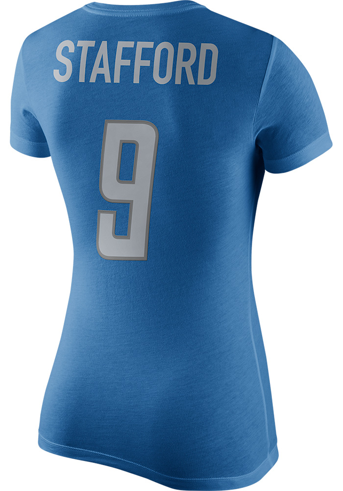 Matthew Stafford Nike Detroit Lions Womens Blue Name and Number Player Tee 3cdd96375