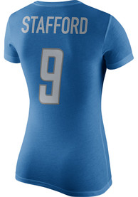 Matthew Stafford Nike Detroit Lions Womens Blue Name and Number Player Tee