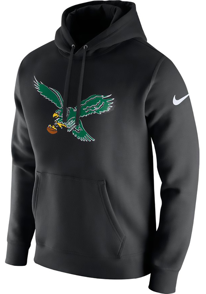 Nike Philadelphia Eagles Mens Black Historic Club Long Sleeve Hoodie - Image 1