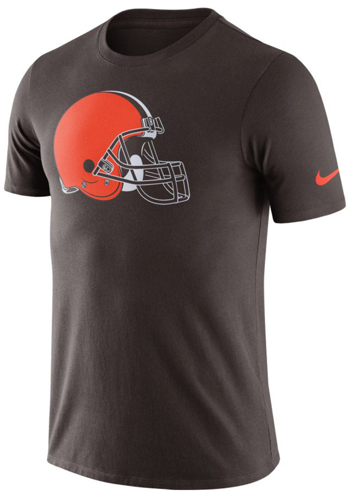 Nike Cleveland Browns Brown Essential Logo Short Sleeve T Shirt - Image 1