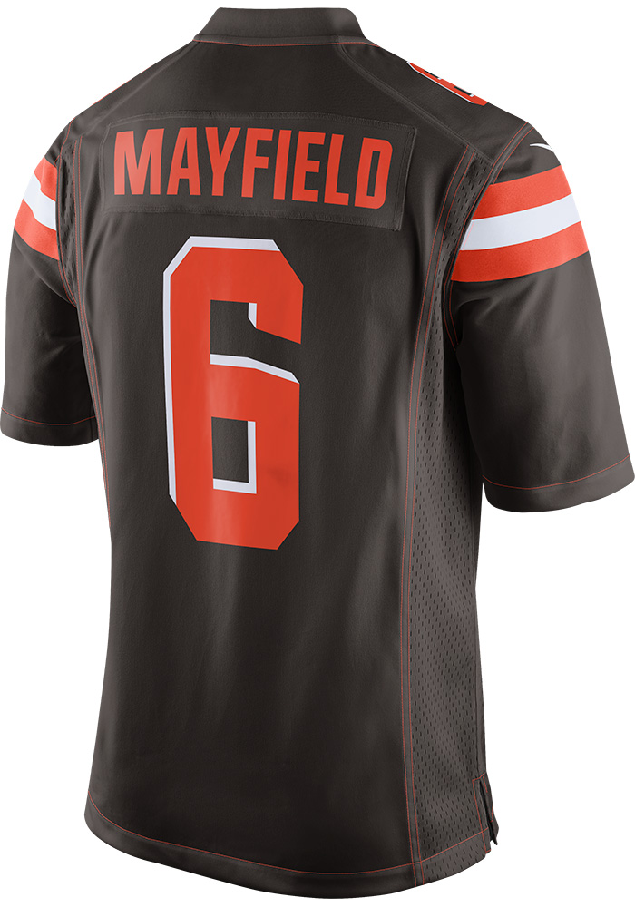wholesale dealer bd35d d3429 Baker Mayfield Nike Cleveland Browns Mens Brown 2018 Home Football Jersey