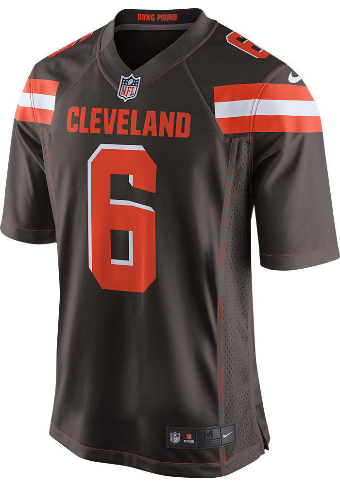 Baker Mayfield Nike Cleveland Browns Mens Brown 2018 Home Football Jersey - Image 2