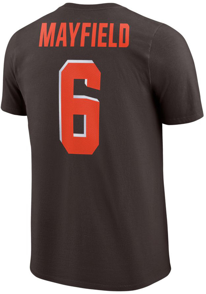 Baker Mayfield Cleveland Browns Brown Player Pride Short Sleeve Player T  Shirt - Image 1 5d6c6aed5