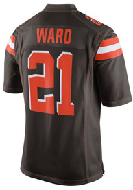 Denzel Ward Cleveland Browns Nike Home Game Football Jersey - Brown