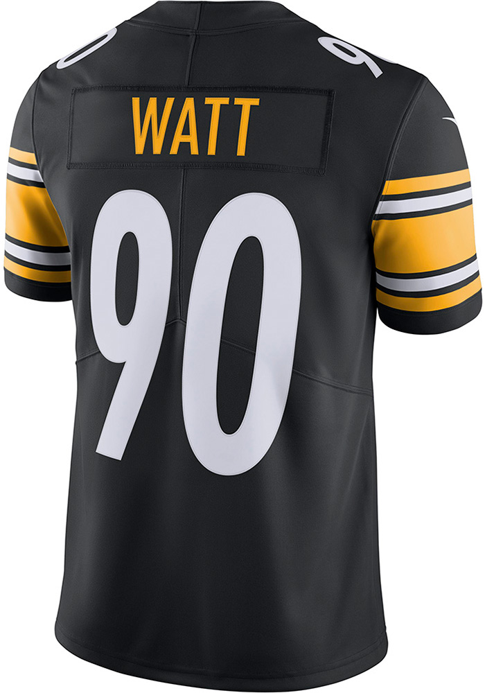 detailed look f6608 88f1f TJ Watt Nike Pittsburgh Steelers Mens Black 2018 Home Limited Football  Jersey